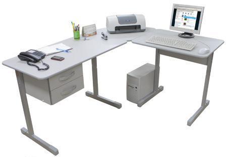 Mesa para escritorio em l for Mesa escritorio l